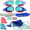 Speedo Fastskin Prime Mirror Swimming Goggles Psycho Red/Bali Blu/Blu Mirror