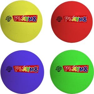 PLAYM8 Official 5 Plastic Football 4 Pack 20cm