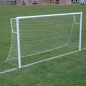 Harrod UK Socketed Super Heavyweight Steel Football Posts 12ft x 6ft