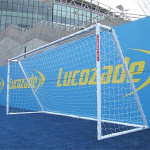 Harrod UK Heavy Duty Galvanised Football Posts 12ft x 6ft