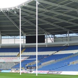 Harrod UK Hinged Aluminium Rugby Posts