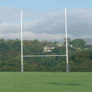 Harrod UK Hinged No1 Steel Rugby Posts
