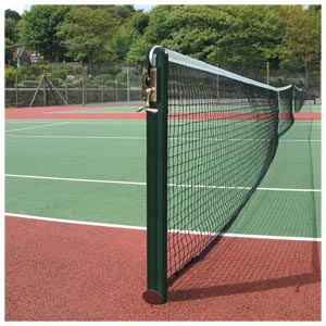 Harrod UK 76mm Socketed Round Steel Tennis Posts
