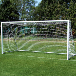 Harrod UK Folding Aluminium Football Posts 16ft x 7ft