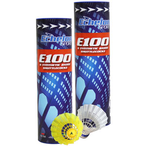 Echelon E100 Badminton Shuttlecocks 6 Pack