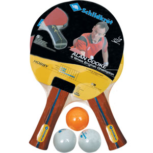 Schildkrot 2 Player Hobby Table Tennis Bat and Ball Set