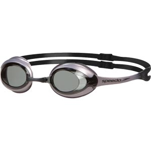 Speedo Merit Swimming Goggles Chrome/Smoke