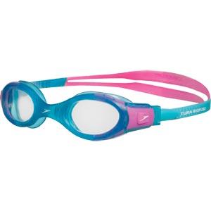 Speedo Junior Futura Biofuse Swimming Goggles Turquoise/Pink