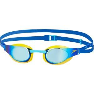 Speedo Junior Fastskin Elite Mirror Swimming Goggles Empire Yellow/Blue