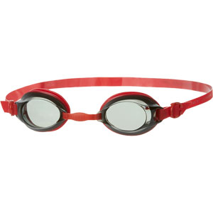Speedo Junior Jet Swimming Goggles Red/Smoke