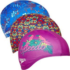 Speedo Printed Junior Polyester Swimming Cap