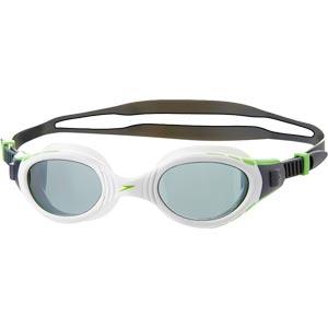 Speedo Futura BioFuse Polarised Swimming Goggles White/Green Fizz