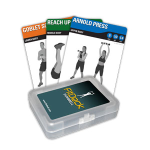 FitDeck Dumbbell Booster Cards
