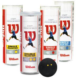 Wilson Staff Squash Balls Tube of 3