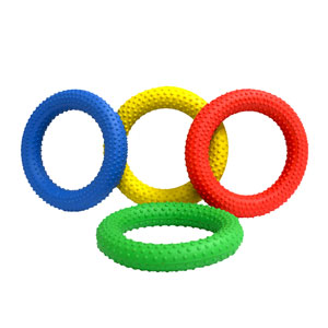 PLAYM8 Dotted Quoits 4 Pack 15cm