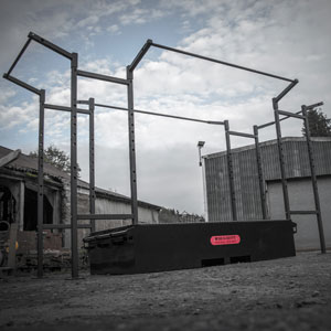 BeaverFit Tactical Gym Box Extended Rack