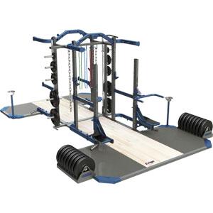 Exigo Olympic Elite Multi and Half Combination Double Rack
