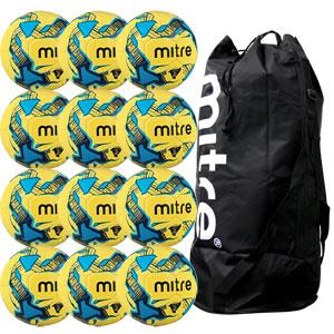 Mitre Primero Training Football 12 Pack Hi Vis