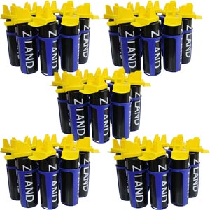 Ziland Hybrid Water Bottles and Carriers Pack of 5