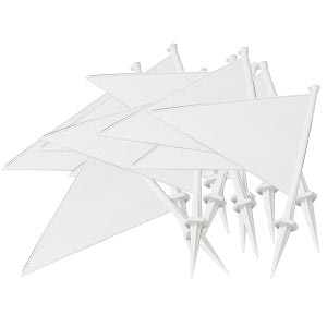 First Play Plastic Marking Flags White 10 Pack